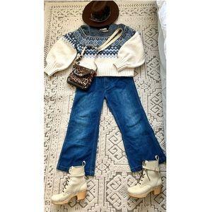 🐘 Zara Cropped Pants Jeans Sz. 12 Large 🐘